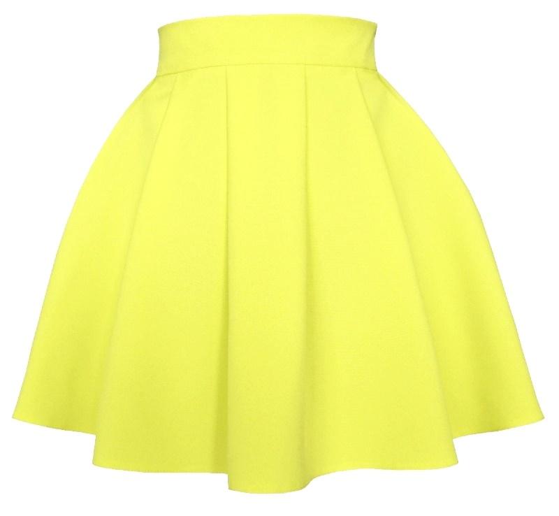 áčková sukňa, áčkové sukne, sukňa v áčkovom strihu, áčková mini sukňa, áčková sukňa žltá