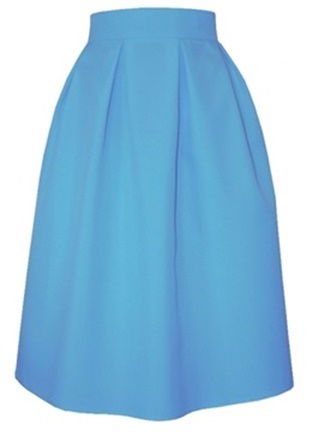 7562cc960367 Áčková sukňa s protizáhybmi bledomodrá - Tentation.sk