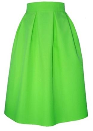 c600f9b2f7d6 Áčková sukňa s protizáhybmi zelená - Tentation.sk
