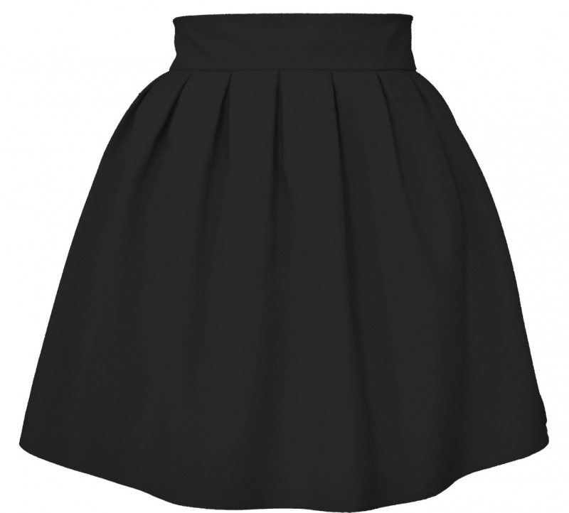 ef6524eeaacd Áčková sukňa mini tulip čierna - Tentation.sk