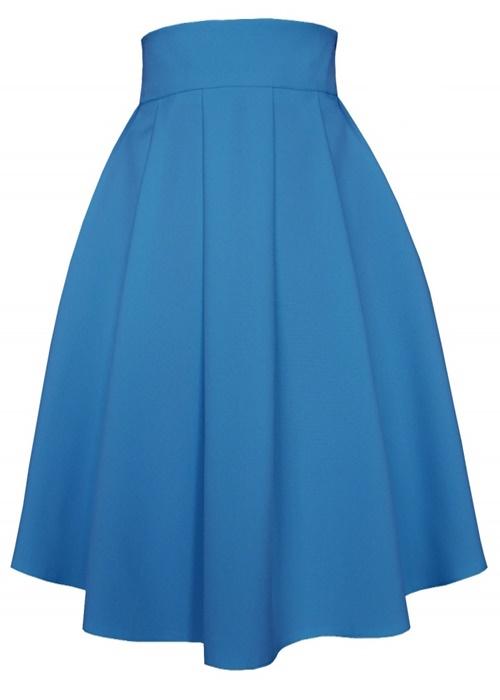 áčková sukňa, áčkové sukne, sukňa v áčkovom strihu, áčková midi sukňa, áčková sukňa modrá