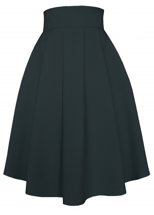 áčková sukňa, áčkové sukne, sukňa v áčkovom strihu, áčková midi sukňa, áčková sukňa čierna
