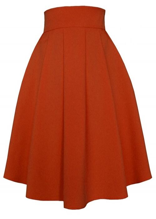 sukňa, sukne,midi sukne, ackova sukna,damske sukne,oranzova sukna,