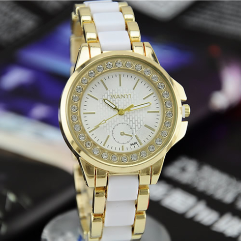 63cc2492f7 Dámske hodinky elegance zirkon biele - Tentation.sk