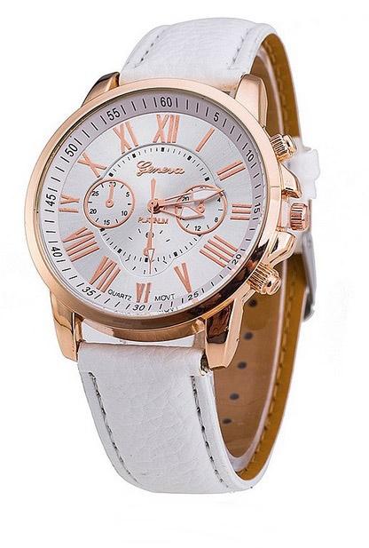 dámske hodinky, dámske hodinky geneva platinum, dámske hodinky biele, lacné dámske hodinky,
