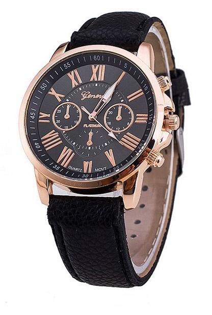 dámske hodinky, dámske hodinky geneva platinum, dámske hodinky čierne, lacné dámske hodinky,
