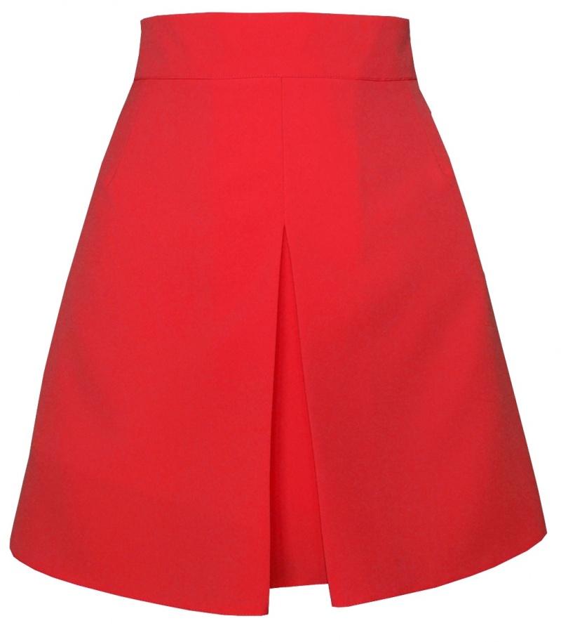 červená áčková sukňa, áčková sukňa,áčkové sukne, sukňa v áčkovom strihu,sukne v áčkovom strihu, áčková minisukňa
